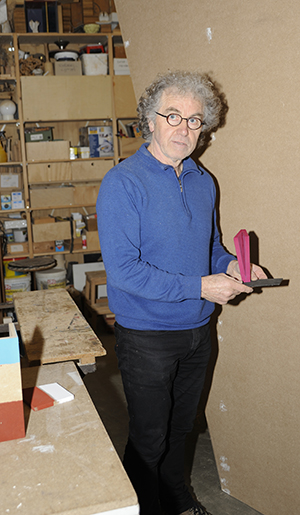 Jan Franssen met maquette