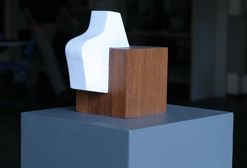 Gasbeton en hout 15 X 15 X 23,5 cm.-Atelier Franssen